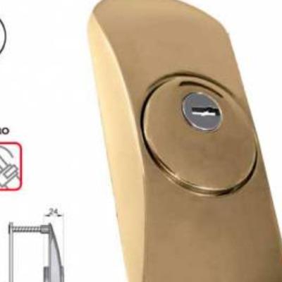 Escudo protector lince SQDO para puertas con bombín europerfil