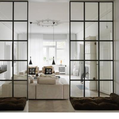 Puertas y separadores estilo industrial
