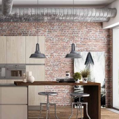 Cocina moderna en ambientes industriales