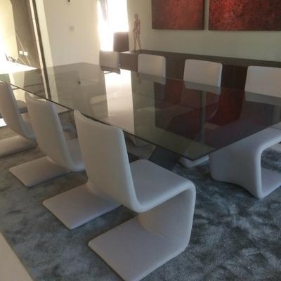 Tapa mesa de cristal