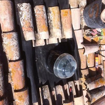 Sellado de un Solatube en tejas
