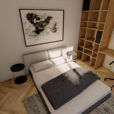 Render dormitorio proyecto Centro
