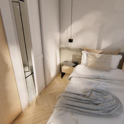 Render dormitorio servicio proyecto Centro