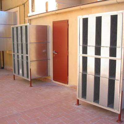 Silenciadores de entrada y salida de aire
