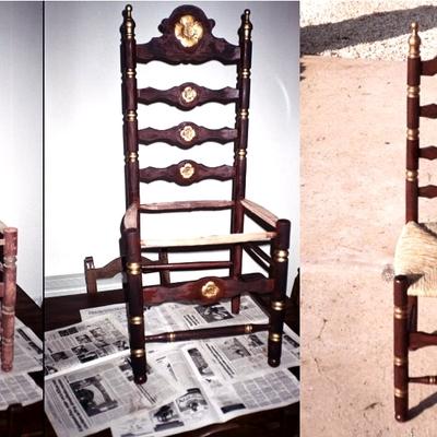 Sillas antiguas mallorquinas de mas de 60 años