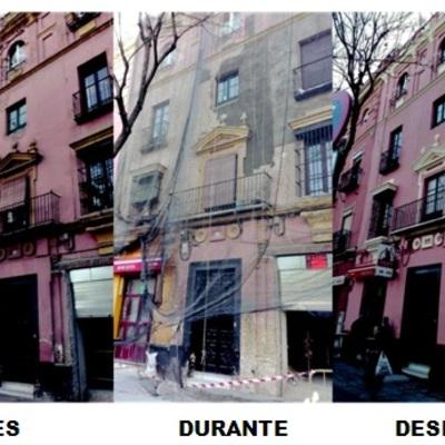 Rehabilitacion de fachada en calle Luis Montoto