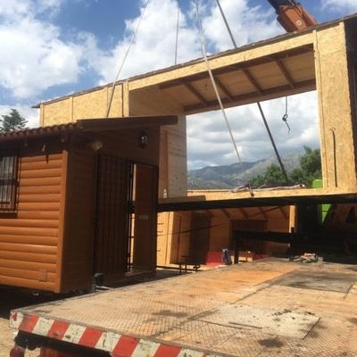 Ampliación casa de madera