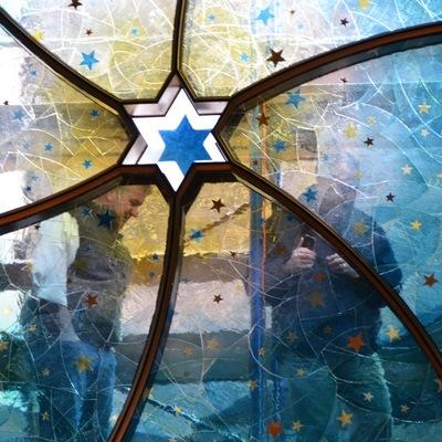 Vidriera para una Sinagoga en colaboración con Gans Studio