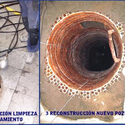 Reparación de pozo de saneamiento