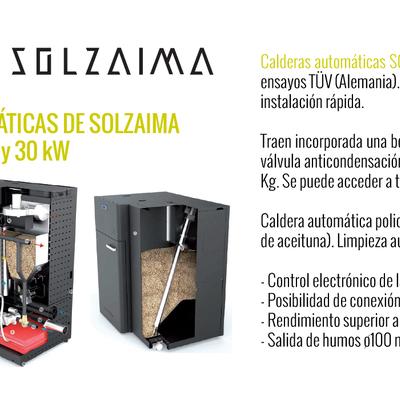 Calderas automáticas de SOLZAIMA
