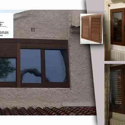 Ventana PVC exterior madera
