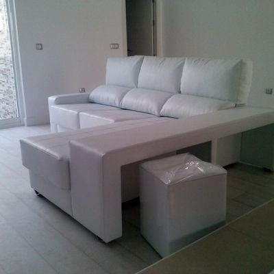 Sofá 3plazas con chaiselongue