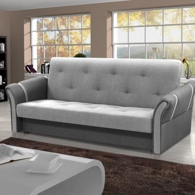 Sofá cama plegable – Siena. Gris