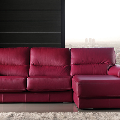 sofa cheslong tapizado en piel