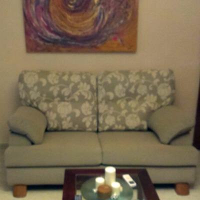Sofá después de su tapizado