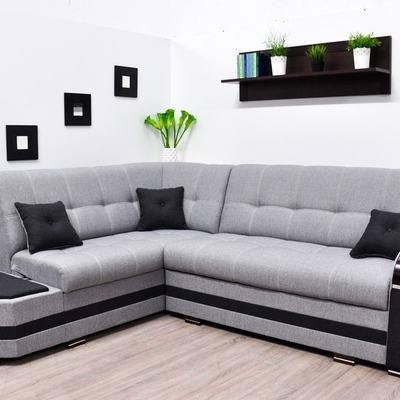 Sofá rinconera cama gris con 2 arcones – Modena