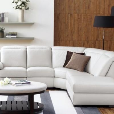sofá rinconera tapizado en piel