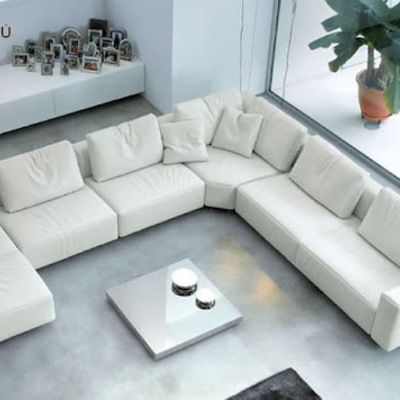 Sofá rinconera tipo moderno muy cómodo