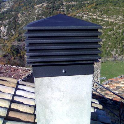 Sombrero metalico chimenea
