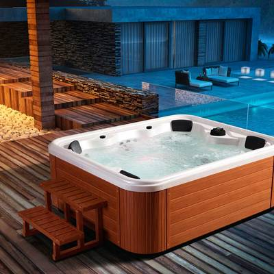 Spa jacuzzi exterior latest hot tub with spa jacuzzi for Jacuzzi exterior barato