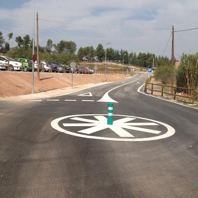 Marcas viales carretera