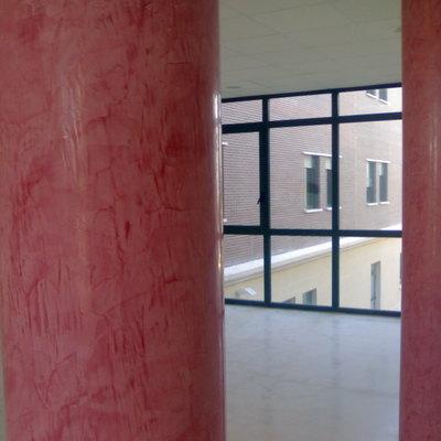 stucco en columnas