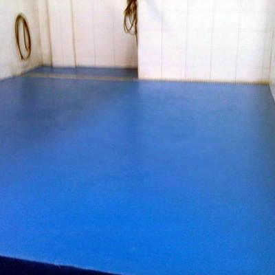 suelo de lavadero realizado con resinas epoxis