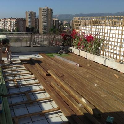 Suelo de madera para exterior