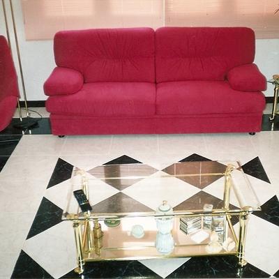 Suelo de Salon con alfombra de baldosa
