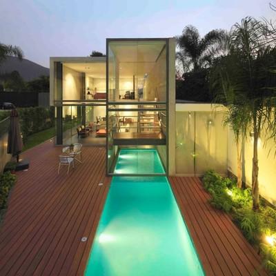 Villa con piscina estilo Ibiza