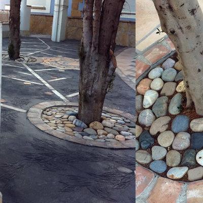Suelo mixto, pavimento impreso y técnicas propias de enlosado
