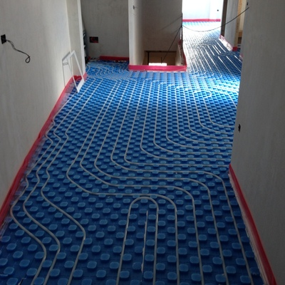 Instalación de suelo radiante para vivienda de 180m2