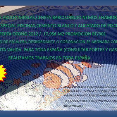 SUPER OFERTAS EN GRESITE PISCINAS MAS ALICATADO PRECIOS 2012