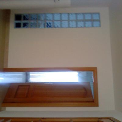 Tabique pladur con puerta y paved
