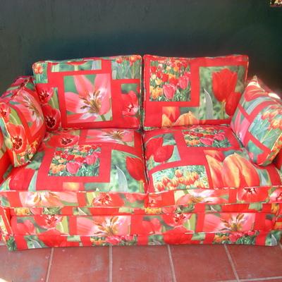 Tapizado de sofá para terraza
