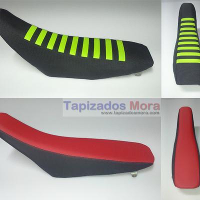 tapizado , reconstrucción y refuerzo  de asientos moto en tejidos antideslizantes