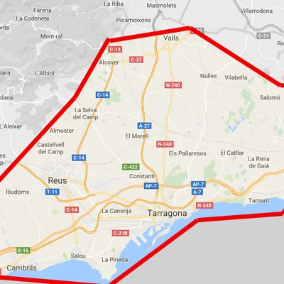 Zonas Tarragona Provincia
