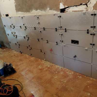 Proceso colocación de azulejos