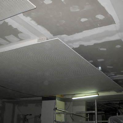 Techo de terminacion sobre techo de insonorización