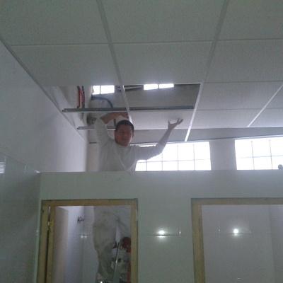 techo en vestuarios