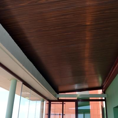 techo panel sanwich color rojo