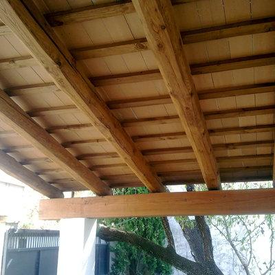 techos con vigas de madera