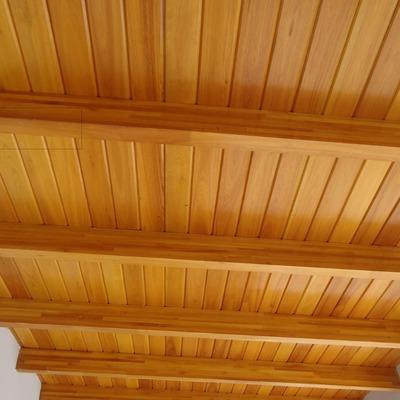 techo de madera,con machimbrado