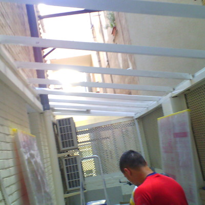 techos de policarbonato y estructura de aluminio