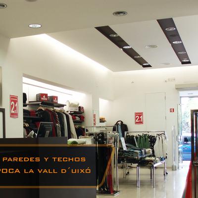 Techos y tabiqueria tienda de ropa