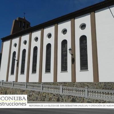 Detalle de Reforma de rampa en Iglesia de San Sebastian