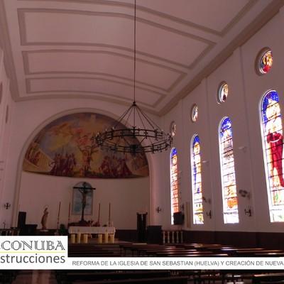 Detalle de Reforma en Iglesia de San Sebastian