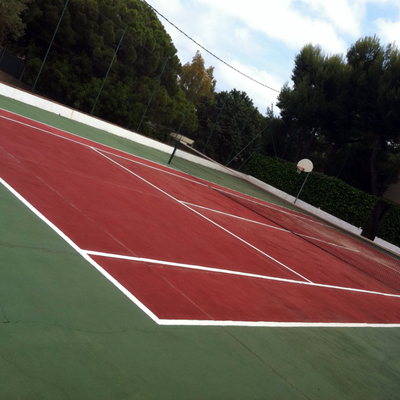 decorado de`pistas de tennis