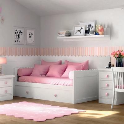Dormitorio infantil lacado.