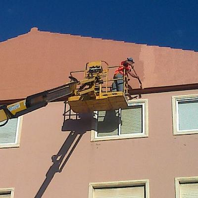 Terminación en fachada.
